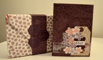 Mini album Stampin Up design papers Park Lane